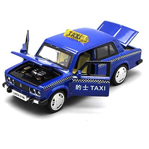 Modelo de coche, modelo de simulación todoterreno 1:32, aleación fundida a troquel de juguete, adornos para coche, colección de joyas de 14,5 x 5,5 x 5,5 cm (color azul)