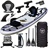 Premium Inflatable Stand Up Paddle Board - 11'6' x 32' x 6' - Complete Fishing & Touring Inflatable...