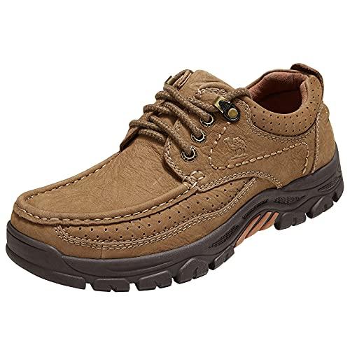CAMEL CROWN Pelle Loafers Scarpe da Guida Ginnastica con Zeppa Casual Scarpe Uomo Mocassins Low-Top