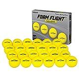 GoSports Foam Flight Practice Golf Balls 24 Pack - Yellow (GOLF-BALLS-FF-24-YELLOW)