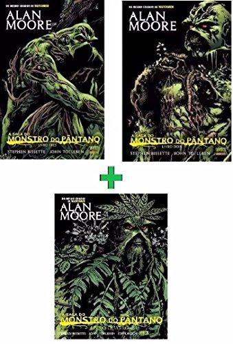 Combo A Saga do Monstro do Pântano Volumes 2 + 3 + 4 Alan Moore