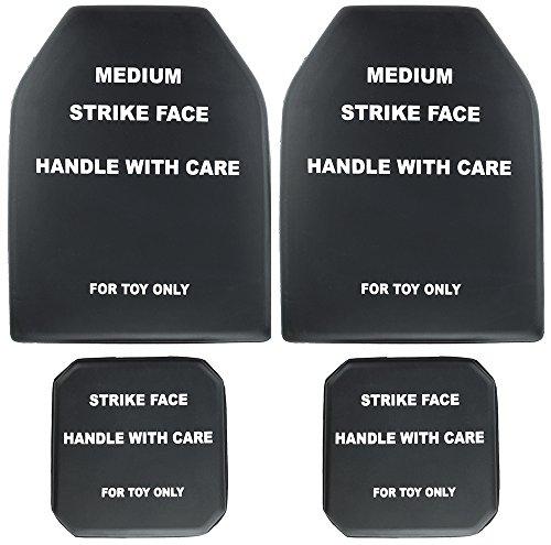 SportPro Foam Dummy SAPI Plate Medium Size with Side Plate Set for Airsoft Vest – Black