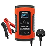 FOXSUR Automatic Battery Charger Car Smart Battery Replenisher and Maintainer with LCD Screen (5A 12V, UK Plug)