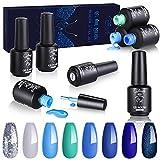 Creamify Esmaltes Semipermanentes de Uñas en Gel UV LED -8 Colores Esmaltes de Uñas en Gel 8pcs...