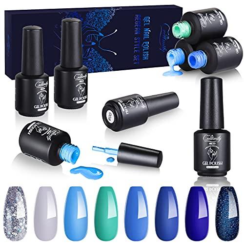 Creamify Esmaltes Semipermanentes de Uñas en Gel UV LED -8 Colores Esmaltes de Uñas en Gel 8pcs Kit de Esmaltes de Uñas 8ml (Serie Egea Romántica)