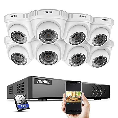 ANNKE Kit de Videovigilancia 8CH DVR 5MP Lite H.265+ con 1TB Disco Duro de Vigilancia + CCTV 8...