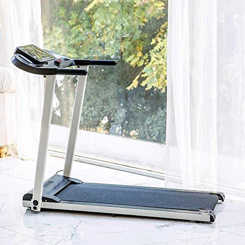 Adecuado para uso en el hogar/oficina de cinta de correr plegable, con 12 programas, velocidad ajustable, pantalla LCD,Grey