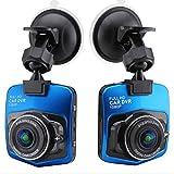 GGJJ ZHZZ Anti-Shake Registrador de la conducción, Interfaz de la visión Nocturna HD 1080P réflex de Lente Compacto automático de Luces LED Altavoz de Gran Apertura USB,Azul