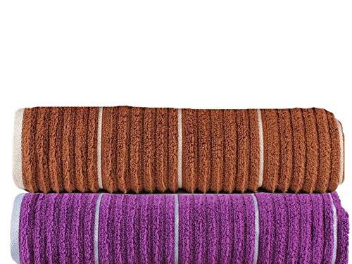 CASA COPENHAGEN Linea - Juego de Toallas de Mano de algodón Acanalado de Primera Calidad