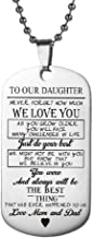 Followmoon Hypoallergenic Engraving Stainless Steel Love Words Engraved Dog Tag Keychain Pendent Necklaces Chain Necklaces for Men Women Kids Child Son Daughter Dad Mom Jewelry