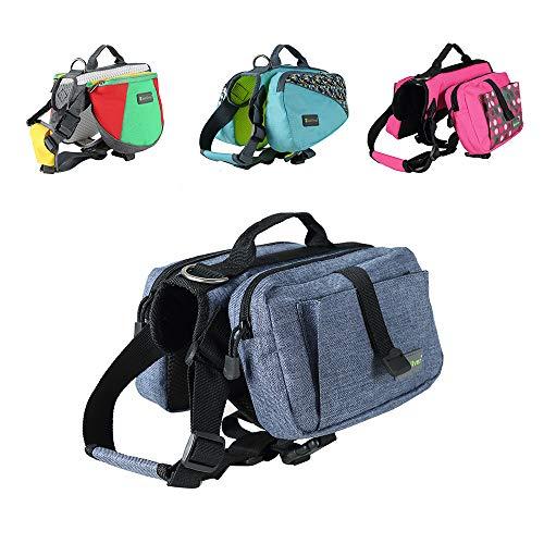 Wellver Verstellbare Hundesatteltasche, Rucksack, Reisesatteltasche, Packungen, Wandern, Camping, für kleine und mittelgroße und große und extra große Hunde