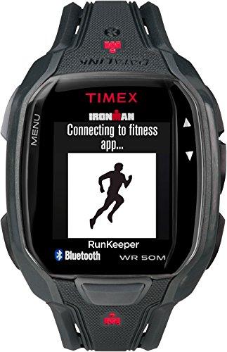 Timex Men's TW5K84500 Ironman Run x50+ Black/Red Resin Strap Watch