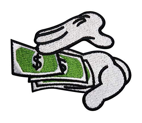 Finally Home Hände die mit Geld werfen Bügelbild Patches zum Aufbügeln | Patch, Aufbügelmotive
