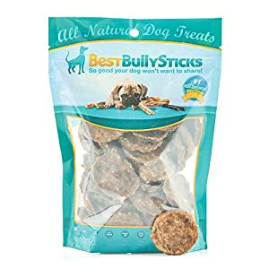 Best Bully Sticks 100% Beef Bully Stick Slider Crunchy Dog Treats (8oz.) – Made of All-Natural Bully Sticks – Bite-Sized & Highly Digestible