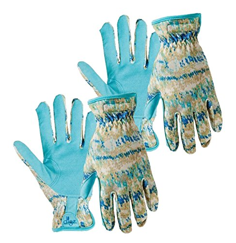 Set of 2 Digz Planter Womens Medium Synthetic Leather Palm All Purpose Work/Garden Gloves - Comfort Fit (Medium)