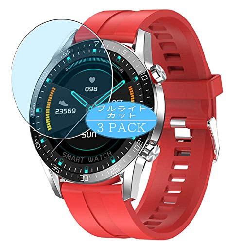 Vaxson 3 Stück Anti Blaulicht Schutzfolie, kompatibel mit smartwatch Smart Watch G5, Displayschutzfolie Bildschirmschutz [nicht Panzerglas] Anti Blue Light