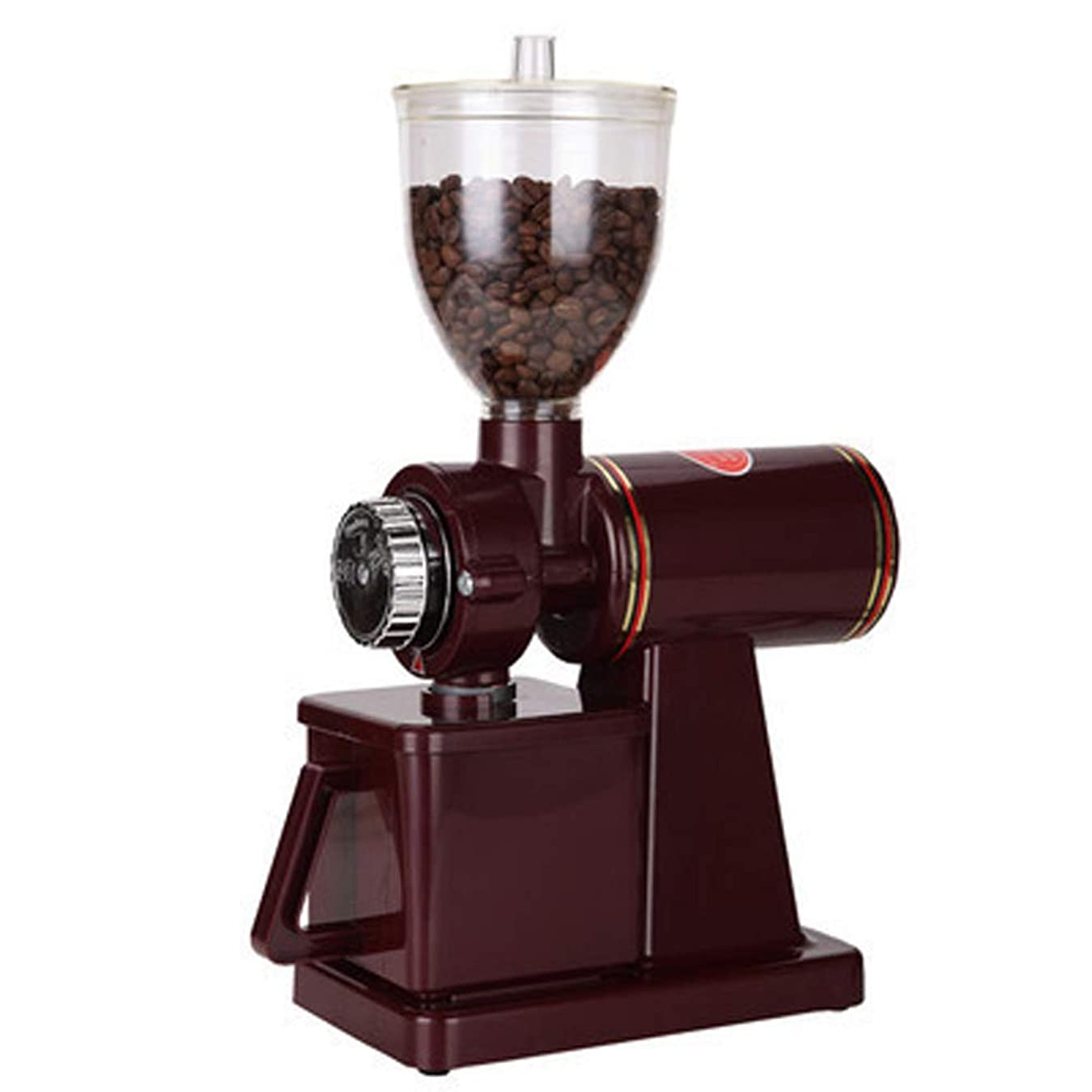 実行する上げるペルセウスHONFAM 電動コーヒーグラインダー コーヒーミル 粗さ調節可能 110V (レッド)