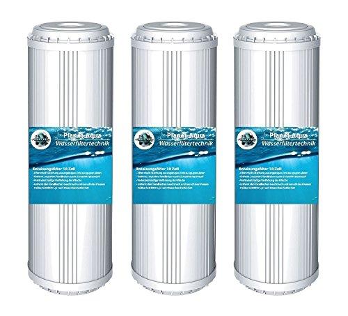 Planet-Aqua 3 x EISENFILTER 10 Zoll Iron Remover Vorfilter Kartusche Wasserfilter Brunnenwasser Regenwasser Filter Patrone Umkehrosmose Osmoseanlage Hauswasserwerk Anlage Pumpen Rost Wasser
