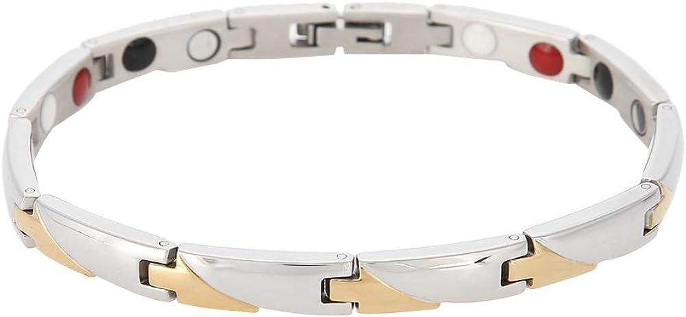TMISHION Women's Fashion Max 67% OFF Health Stainless Elemen 55% OFF Steel Bracelet