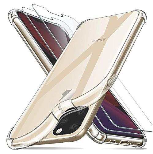 SHOP-PRIME Funda iPhone XS/XR / 8/11 / 11 Pro/ 11 Pro MAX. con Tecnología de cojín de Aire y protección híbrida de la Gota para iPhone XS (iPhone 11 Pro)