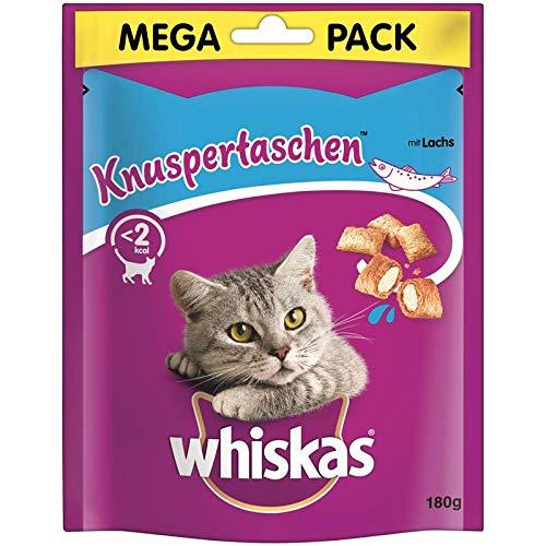 whiskas Knuspertaschen Lachs   4 x 180g Katzensnack