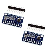 ACEIRMC 2pcs ADS1115 16 Bit 16 Byte 4 Channel I2C IIC Analog-to-Digital ADC PGA Converter with Programmable Gain Amplifier High Precision ADC Converter Development Board for Arduino Raspberry Pi
