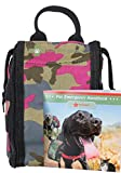 FAB FUR GEAR Dog First Aid Kit & Safety Supplies, Pack for Pets for Home, Training, Walking, Camping; Survival & Emergency Care, Tourniquet, Scissors, Medical Tape, Bandages, Cats Too, Pink Camo