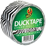 Duck Brand Zebra Animal Printed Duct Tape, 1.88 x 10 Yards, 1398132