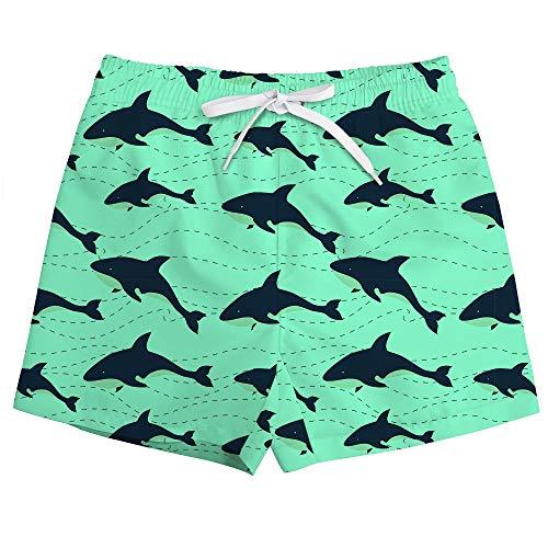 Vogseek KüHle Delphin-Druck-Schwimmen-Kleidung FüR Jungen Schnelle, Trockene, Verstellbare, Mittlere Taille LäSsige Hawaiian Swimwear Board Shorts Mit Tasche 4-12y