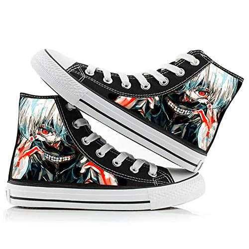 SN0wny Anime Canvas Trainers for Unisex Couple Women Men, Tokyo Ghoul
