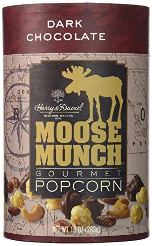 Harry & David, Moose Munch Gourmet Popcorn, Dark Chocolate, 10 Oz. (Gold, Brown, White)