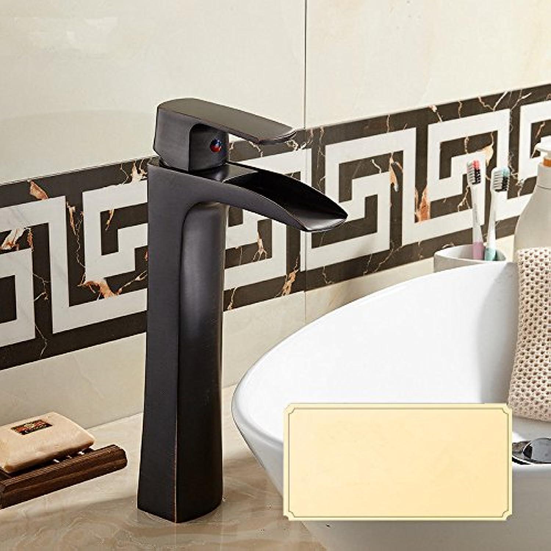 Gyps Faucet Waschtisch-Einhebelmischer Waschtischarmatur BadarmaturDas Kupfer Waschbecken Wasserhahn antiken Kalte und Warme Badewanne Waschbecken Schwarz,Mischbatterie Waschbecken