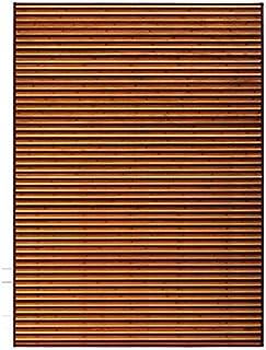 Hogar y Mas Alfombra de Salón Living de Bambú Marrón para Comedor Natur,180x250 cm.