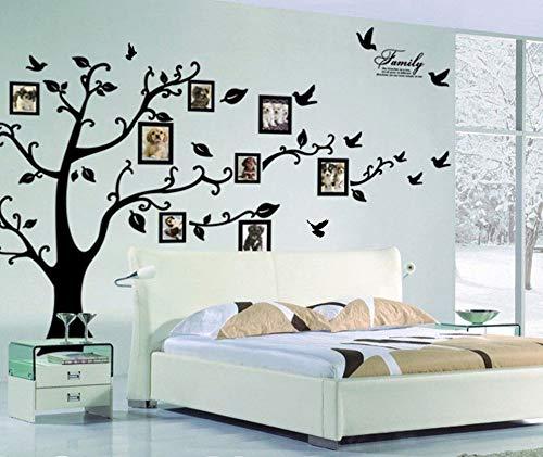 SoulSpaze nero 3D DIY foto albero PVC Wall Stickers/adesivo famiglia Wall Stickers murale arte