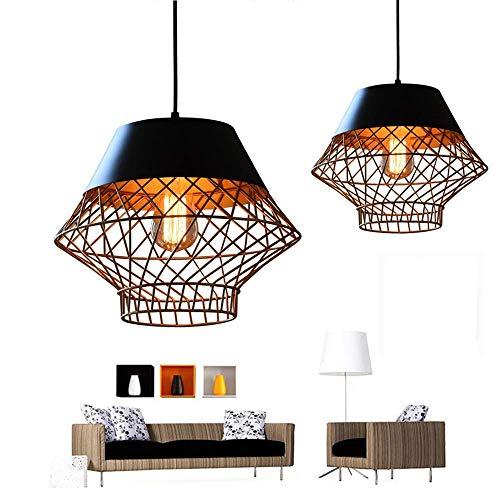 YANGQING Lámpara de luz dorada con personalidad dorada de hierro forjado, barra de café, restaurante, lámpara americana, retro, industrial, viento loft creativo, 32 x 30 cm