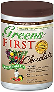 Greens First - Chocolate - Superfoods, Extracts & Concentrates, Nutrient Rich Antioxidant Power of 15+ Servings of Fruits ...
