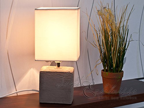 Lampe de Table/de Chevet Brun/Nature 1/5/837