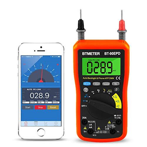 デジタルマルチメーター BTMETER BT-90EPC 4000カウントAC / DC電圧 電流測定、最大1000VのDC電圧計測、抵...