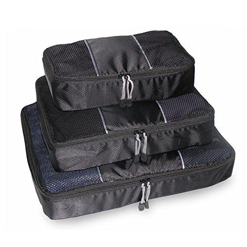 FunYoung Sacchetto di indumento set pacco a 3 valigia cubo di movimento della famiglia Organizer