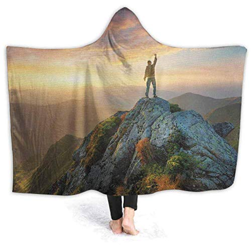 Xarchy Wearable Blanket Trees Sunrise Pastoral Sweatshirt Elegant Cosy Functional Lightweight Blanket for Men Women Teenager 60W by 50H inches (with Hooded)