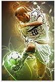 HuGuan Leinwand Druck Poster Zinedine Zidane Dekoratives