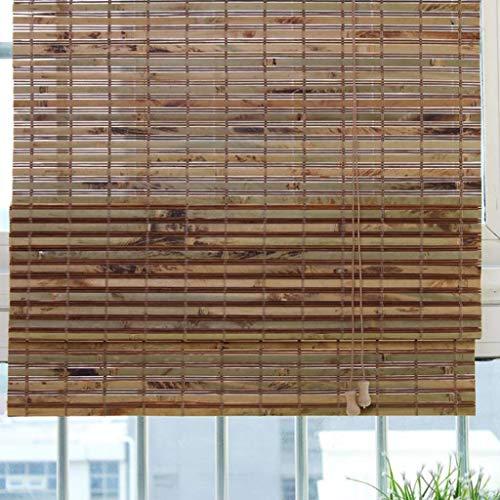 SU-AMEI Rolgordijnen, bruin bamboe rolgordijn, verticale verduisteringsgordijnen, bamboe gordijn voor deur buiten patio galerij balkon