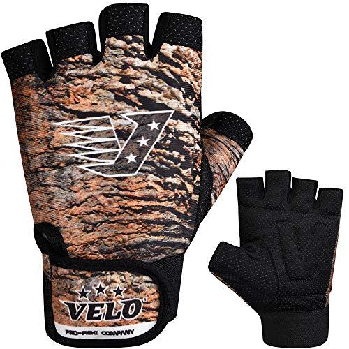 Velo Gewichtheber-Handschuhe, Fitnesshandschuhe, Bodybuilding, Training, braun-schwarz, XL