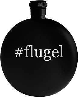 #flugel - 5oz Hashtag Round Alcohol Drinking Flask, Black