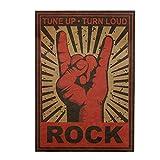 Vintage Kraft Poster Rockstars Stil Rock Band Sterne Bild