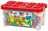 Jouets Ecoiffier -1389 - Coffre de rangement et briques à empiler Abrick – Jeu de construction pour enfants...