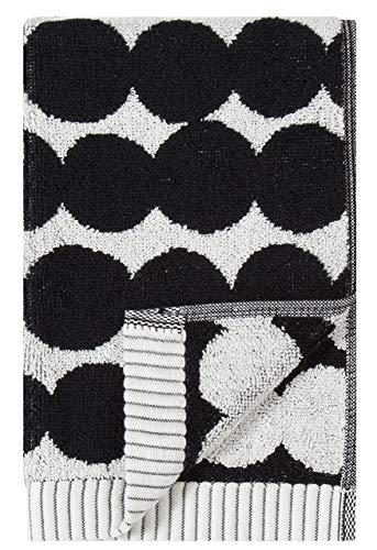 Marimekko - RÄSYMATTO Gästehandtuch - Handtuch klein - Baumwolle - schwarz/weiß - 30X50 cm