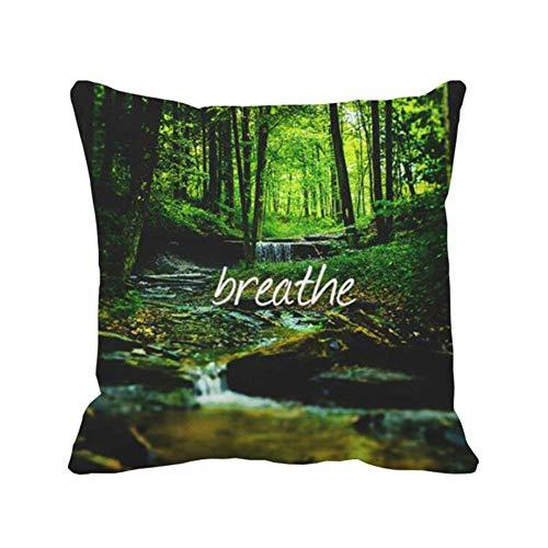 Nature Forest Breathe Color Al Aire Libre Interior Throw Pillow Cover Square