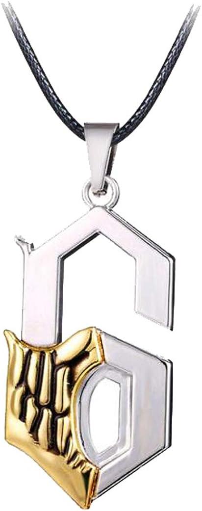 Weeck Anime Bleach No.6 Grimmjow Jaggerjack Face Ichigo Kurosaki Necklace Pendant