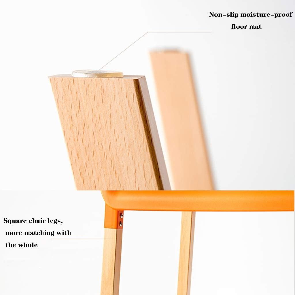 Conception en bois massif créatif moderne levage tournant tabouret de mode mode casual tabouret rond de ménage en bois massif (Couleur : Orange) Gray